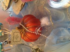 I love the idea of decorating for a cinderella party with pumpkins!
