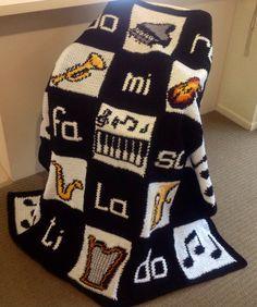 Musical+Moments+Crochet+Handmade+Blanket+by+WeAreFamilyHeath,+$80.00