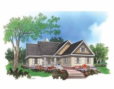Cottage House Plan with 1673 Square Feet and 3 Bedrooms from Dream Home Source | House Plan Code DHSW41771