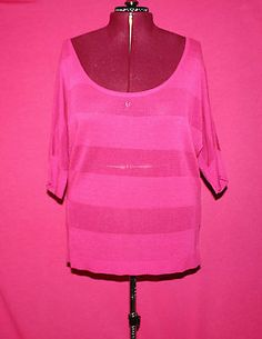 Torrid Fuchsia Holey Stripped Off Shoulder Sweater Size 3X | eBay