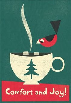 by Steve Mack' Merry Christmas, Christmas Coffee, Vintage Christmas Cards, Christmas Images, Christmas Morning, Little Christmas, All Things Christmas, Christmas Time, Christmas Crafts