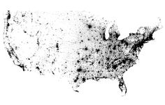 2010 Census Dotmap- one dot for every person