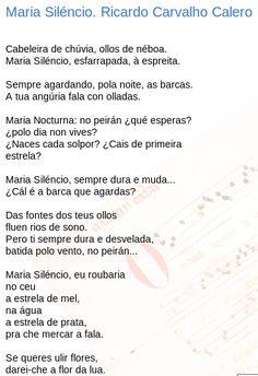 Maria Siléncio. Ricardo Carvalho Calero : son de poetas