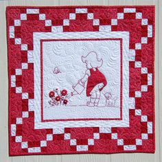 How Does Your Garden Grow redwork pattern