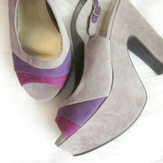 Madden girl platform peptoes New without box. Never worn! Faux suede colorblock heels. Approx 2 inch platforms and approx 5 inch heel.  Bundle for best deals! Hundreds of items available for discounted bundles! You can get lots of items for a low price and one shipping fee!  Follow on IG: @the.junk.drawer Madden Girl Shoes Platforms