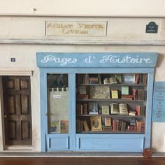 Miniature Parisian bookshop 1:12 / one inch scale One of a kind ship front