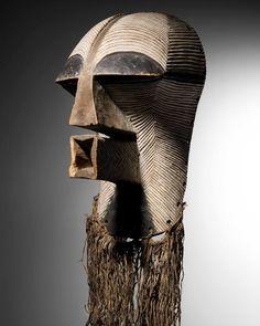 Songye Kifwebe Kikashi Mask, DR Congo http://www.imodara.com/item/dr-congo-songye-kifwebe-power-mask-kikashi-female-mask/