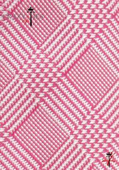 Particolare Tessuto Cravatta Principe di Galles in Seta Jacquard Rosa e Bianca