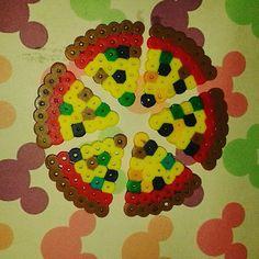 Pizza hama beads by nyadesigns
