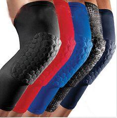 profesyonel nefes spor erkek petek uzun diz destek brace yastık koruyucu spor basketbol bacak kol spor kneepad