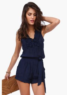 9ea76488188 Navy Lane Romper ♥ Look at her beautiful but discreet arm bracelet