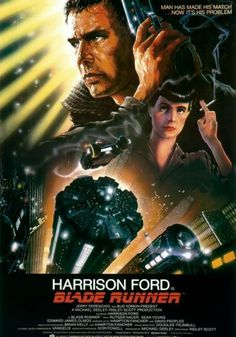 This is the classic film poster from the movie Blade Runner. Blade Runner is a 1982 American dystopian science fiction thriller film directed by Ridley Scott and starring Harrison Ford, Rutger Hauer, Sea. Harrison Ford, Tv Movie, Sci Fi Movies, Movies To Watch, Cyberpunk Movies, Movie Plot, Fantasy Movies, Movies 2019, Film Science Fiction