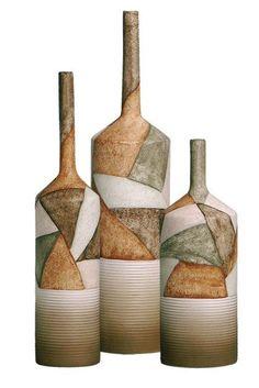 vasos feitos com garrafas decorativas