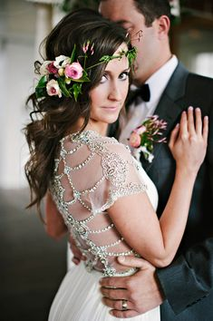 BHLDN wedding gown   Photo by Berrett Photography   Read more - http://www.100layercake.com/blog/?p=72465