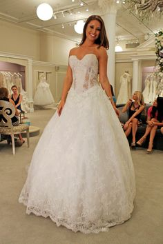 Season 14 Featured Dress: Pnina Tornai. Hoop skirt, drop waist, see through corset. $15,500.