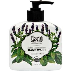 Nourish Organic Hand Wash Lavender Mint - 7 Fl Oz