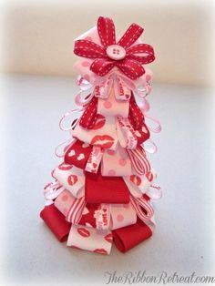 Valentine's Day Ribbon Tree, 2014 Valentine's Day Ribbon, valentine's day  ideas www.loveitsomuch.com