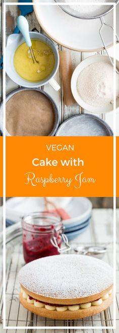 This Vegan Cake recipe is a deliciously light vegan version of the very classic Victoria Sponge Cake with vegan frosting and homemade raspberry jam! Classic Victoria Sponge, Victoria Sponge Cake, Vegan Frosting, Vanilla Frosting, Best Vegan Cake Recipe, Vegan Desserts, Vegan Recipes, Homemade Raspberry Jam, Dairy Free Spread