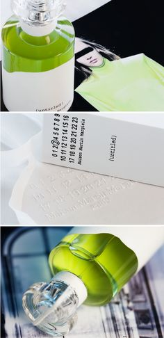 Maison Martin Margiela (untitled) Perfume // packaging design by Fabien Baron // Photo credit: Nathan Branch