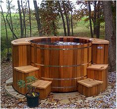 You can soak in my cottage hot tub while you wait for your appointment.
