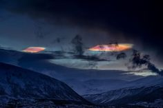 ufo cloudships arctic Truls Tiller photographed these beautiful clouds over Tromsø, Norway, on December 16, 2015.