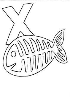 1000 images about letter x crafts on pinterest letter x for X ray coloring page