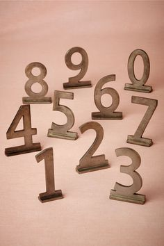 Sans Serif Zinc Numbers - Count it out in clean zinc. Mix and match with Sans Serif Zinc letters.
