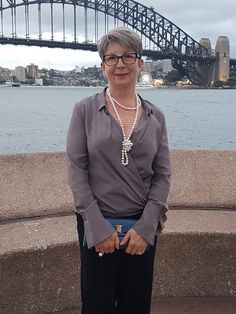 Enjoying the view of Sydney Harbour Bridge before going to the Sydney Opera House for Shostakovich's concert