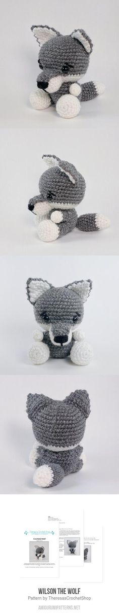 Wilson The Wolf Amigurumi Pattern - crochet wolf pattern