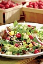 Diabetic Friendly Raspberry, Avocado & Mango Salad