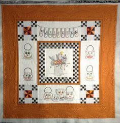 Vintage Halloween, beautifully quilted by Jan Hutchison at The Secret Life of Mrs. Meatloaf. Design by Meg Hawkey / Crabapple Hill