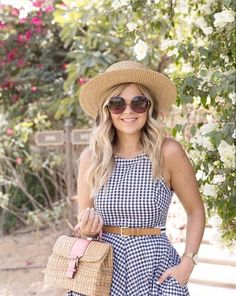 Ready for going out.Scott Dress with woven hat and Mini Vipha Bag Modest Swimsuits, Woman Beach, Suits For Women, Beachwear, Going Out, Summer Outfits, Thailand, Style Inspiration, Holidays
