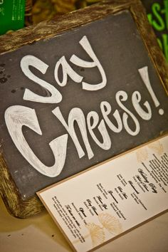 Cute signage for a photobooth! {CMcDade Photography}