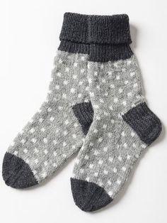 Prickiga strumpor i Novita Nalle och Novita Wool Crochet Socks, Knitted Slippers, Wool Socks, My Socks, Knitting Socks, Hand Knitting, Knitting Patterns, Knit Crochet, Crochet Patterns