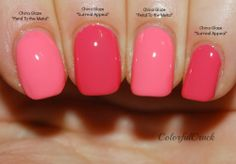 China Glaze/Surreal Appeal & China Glaze/Petal To The Metal Life In Color/Colorful Crack