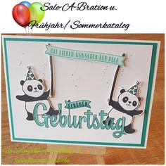 StampinUp, SAB und Frühjahr/Sommerkatalog beginnt heute. Hier eine Geburtstagskarte mit Party-Pandas und Geburtstagswünsche für dich