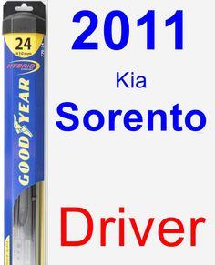 Driver Wiper Blade for 2011 Kia Sorento - Hybrid
