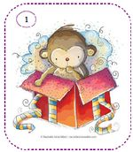 All Artwork Copyright Rachelle Anne Miller Creative Studios. Monkey Illustration, Decoupage, Cute Monkey, Cute Images, Whimsical Art, Creative Studio, Baby Pictures, Clipart, Kids Learning