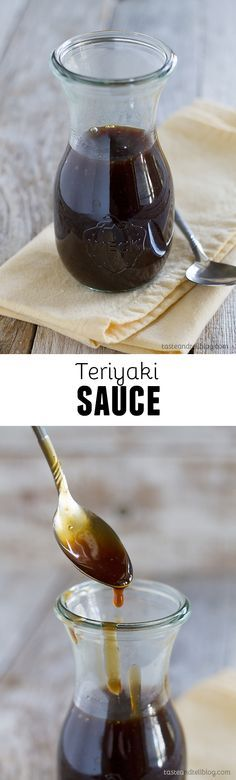 This is a definite Go To for teriyaki sauce. An easy homemade teriyaki sauce recipe made from pantry staples. This sauce is bold and thick and is great as a marinade or as a sauce served with your favorite meats. Homemade Teriyaki Sauce, Homemade Sauce, Teriyaki Sauce Recipes, Japanese Teriyaki Sauce Recipe, Terriyaki Sauce, Gluten Free Teriyaki Sauce, Chicken Teriyaki Sauce, Japanese Sauce, Steak Tips