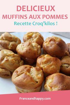 Muffins aux pommes Croqkilos ! Cette recette est super rapide à faire et TELLEMENT BONNE !! Recette HEALTHY et délicieuse :)