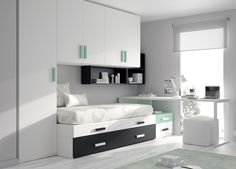 Find ideas for kids and teens' bedrooms in our catalogue. Inspire yourself and create a unique bedroom. Small Room Bedroom, Small Rooms, Home Bedroom, Bedrooms, Home Room Design, Home Interior Design, Teenage Room, Foyers, Home Office Decor