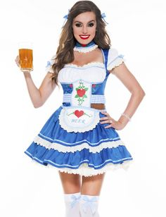 Lingerie store with the biggest selection of lingerie online. Buy bras, panties, chemises, sexy costumes, and clubwear at affordable prices. German Costume, Beer Girl, Buy Bra, Clubwear, Blue Dresses, Lingerie, Costumes, German Beer, Sexy