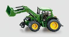 Kids were big fans of these when living in Europe | SIKU 1:32 Metal Die-Cast John Deere 6820 Toy Tractor with Front Loader