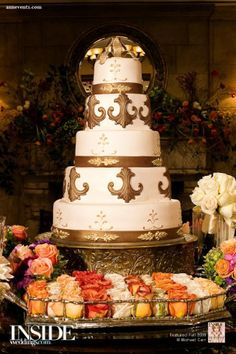 Cake from a wedding by Ann Events. Cake: Susie's Cakes Photography by: Michael Carr Photography