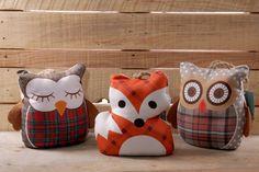 Zarážka do dveří ve tvaru #lišky a #sovy #owl #homedecor