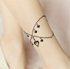 Idea for a cute bracelet of ankle tattoo