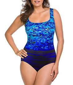 bed779257e76d Longitude New Moonlight Double X-Back Tank One-Piece Swimwear Cover Ups