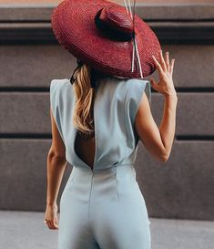 Love Hat, Summer Hats, Color Combinations, Wrap Dress, Burgundy, Jumpsuit, Shirt Dress, How To Wear, Outfits