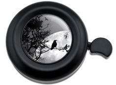 Amazon.com : Cool and Custom {Fully Adjustable to Fit Most Bikes} Bicycle Handlebar Bell Made of Hard Metal with Scary Halloween Crow Design {Black, Gray and White Colors} : Sports & Outdoors