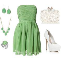 Pretty green - light grass green or jade